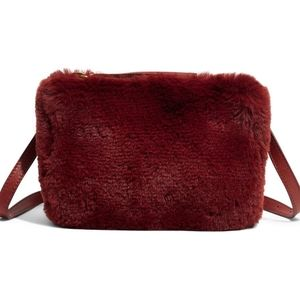 NWT The Simple Pouch Faux Fur Belt Bag